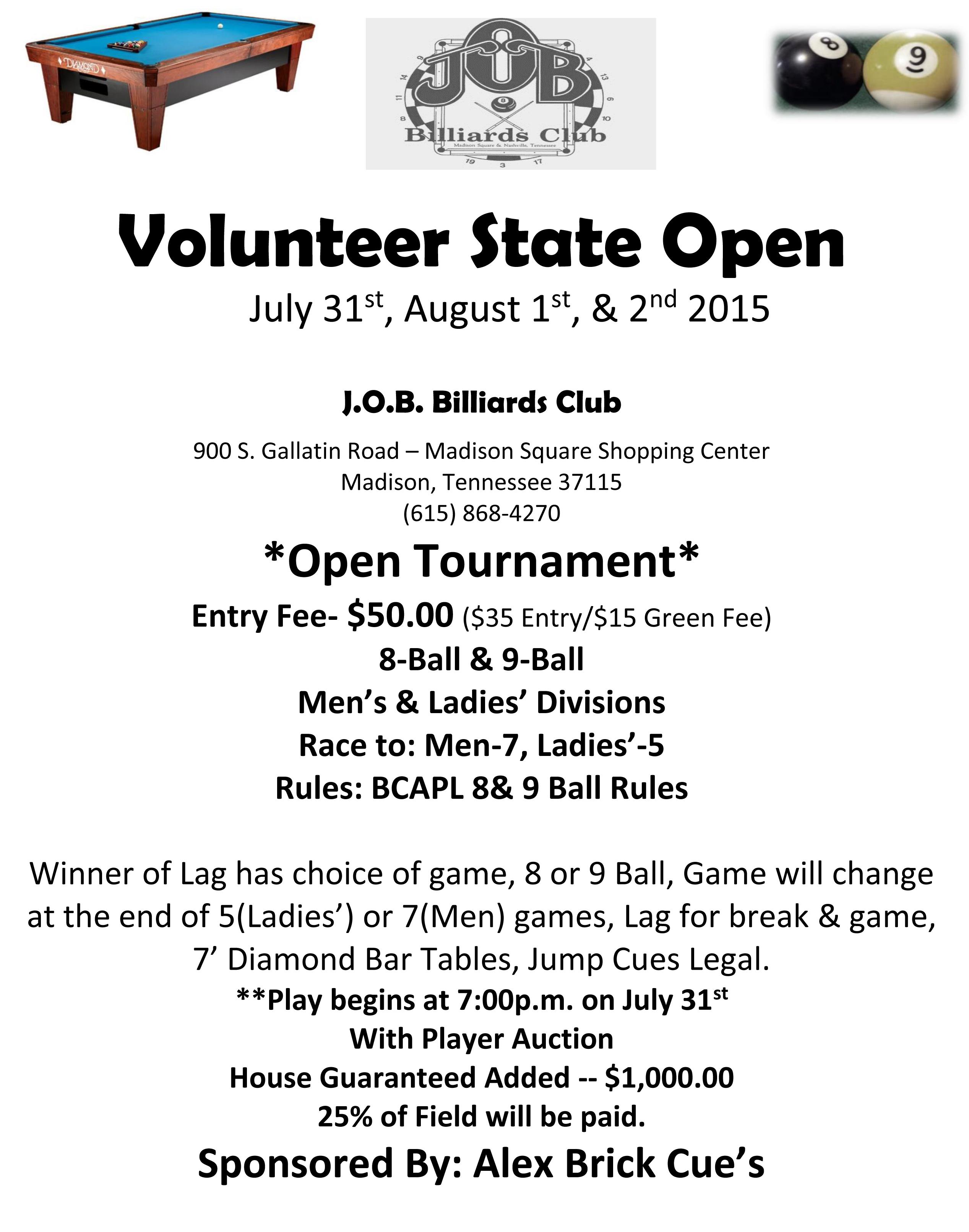 Volunteer State Open 2015-1