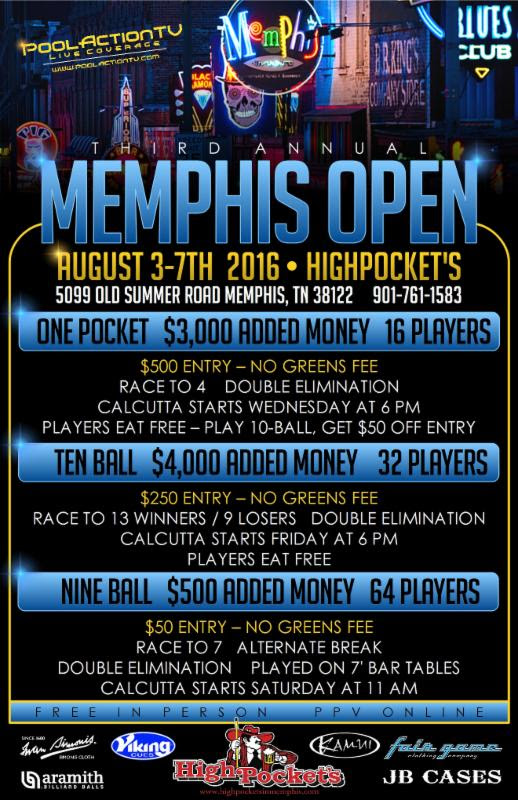 Highpockets flyer Memphis Open